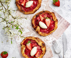 Flat lay picture of crostatas